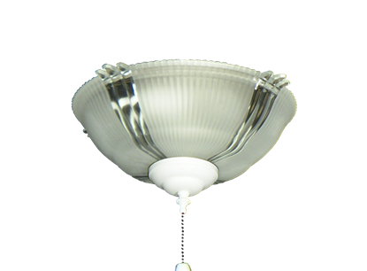 180 Ribbed Glass Bowl Light