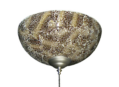 2264 Brown Crackle Finish Hand-Made Specialty Glass Bowl Light
