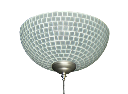 2265 Frost Tile Hand-Made Specialty Glass Bowl Light