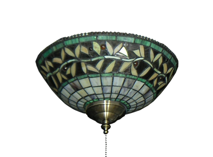 193 Green Vine Tiffany Glass Specialty Bowl Light