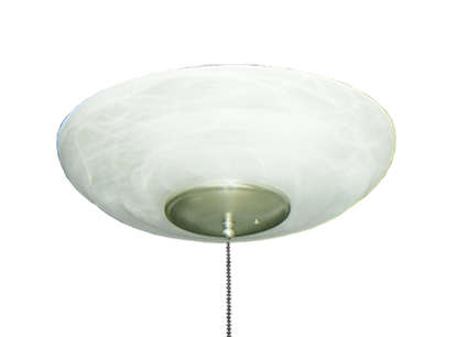 171 Large Bowl Light in Pure White Scavo Glass