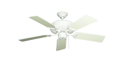 """Picture of Raindance Pure White with 44"""" Antique White Blades"""