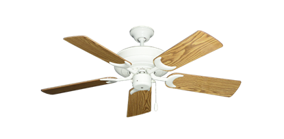 """Picture of Raindance Pure White with 44"""" Oak Gloss Blades"""