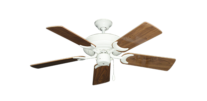 """Picture of Raindance Pure White with 44"""" Walnut Gloss Blades"""