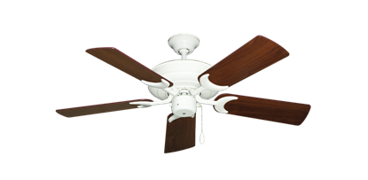 """Picture of Raindance Pure White with 44"""" Walnut Blades"""