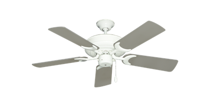 """Picture of Raindance Pure White with 44"""" Satin Steel (painted) Blades"""