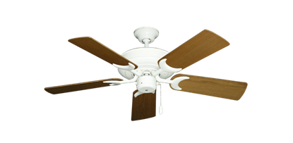 """Picture of Raindance Pure White with 44"""" Light Oak Blades"""