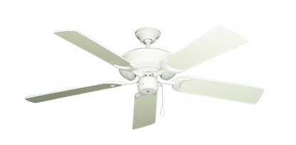 """Picture of Raindance Pure White with 52"""" Antique White Blades"""
