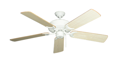 """Picture of Raindance Pure White with 52"""" Bleached Oak Gloss Blades"""