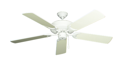 """Picture of Raindance Pure White with 52"""" Antique White Gloss Blades"""
