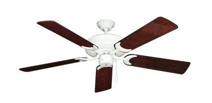"""Picture of Raindance Pure White with 52"""" Cherrywood Gloss Blades"""