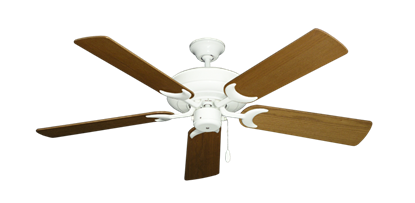 """Picture of Raindance Pure White with 52"""" Light Oak Blades"""