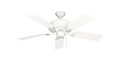"""Raindance Pure White with 44"""" Outdoor Pure White Blades"""