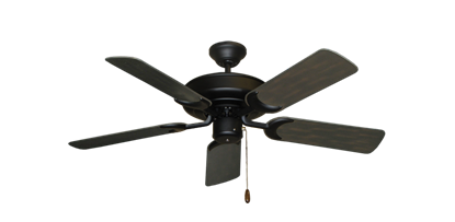 "Picture of Raindance Matte Black with 44"" Outdoor Oil Rubbed Bronze Blades"