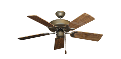 "Picture of Raindance Antique Bronze with 44"" Walnut Gloss Blades"