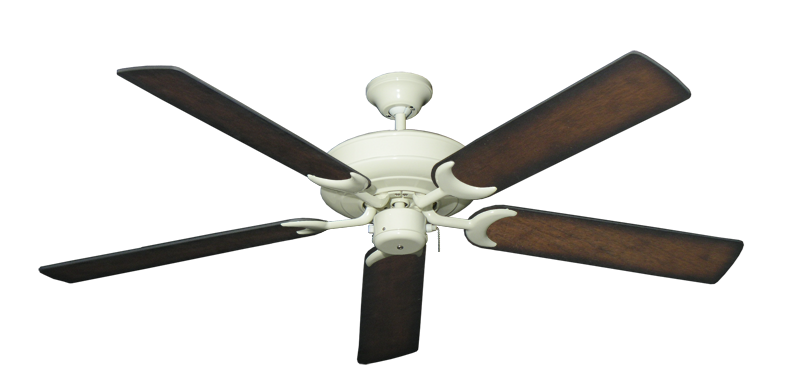 """Picture of Raindance Antique White with 56"""" Distressed Hickory Blades"""