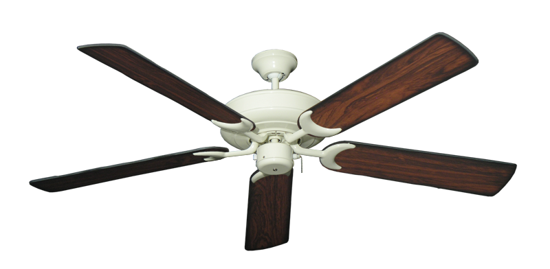 """Picture of Raindance Antique White with 56"""" Burnt Cherry Blades"""