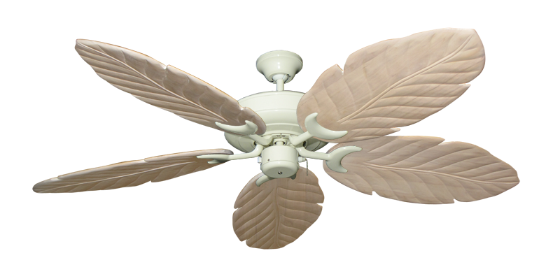 "Picture of Raindance Antique White with 58"" Series 100 Arbor Whitewash Blades"