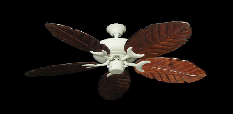 "Picture of Raindance Antique White with 52"" Series 125 Arbor Cherrywood Blades"
