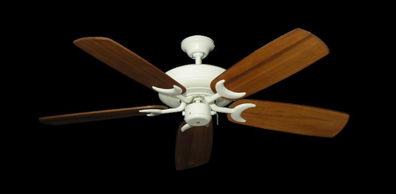"Picture of Raindance Antique White with 52"" Series 425 Arbor Oak Blades"