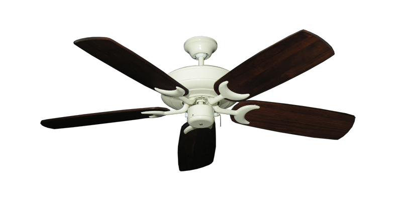 "Picture of Raindance Antique White with 52"" Series 425 Arbor Cherrywood Blades"