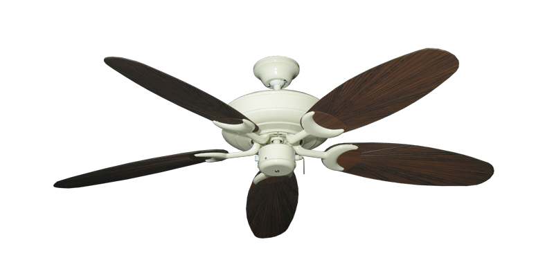 """Picture of Raindance Antique White with 52"""" Outdoor Leaf Oil Rubbed Bronze Blades"""