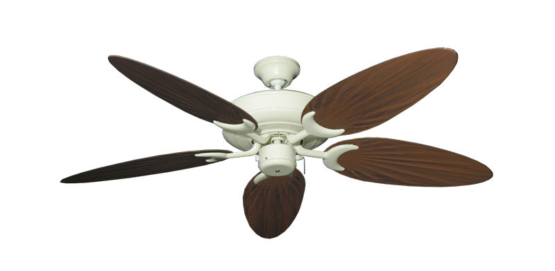 """Picture of Raindance Antique White with 52"""" Outdoor Palm Oil Rubbed Bronze Blades"""