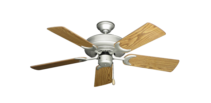 "Picture of Raindance Brushed Nickel with 44"" Oak Gloss Blades"