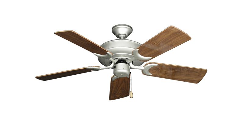 """Picture of Raindance Brushed Nickel with 44"""" Walnut Gloss Blades"""