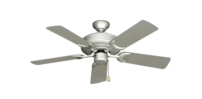 """Picture of Raindance Brushed Nickel with 44"""" Satin Steel (painted) Blades"""