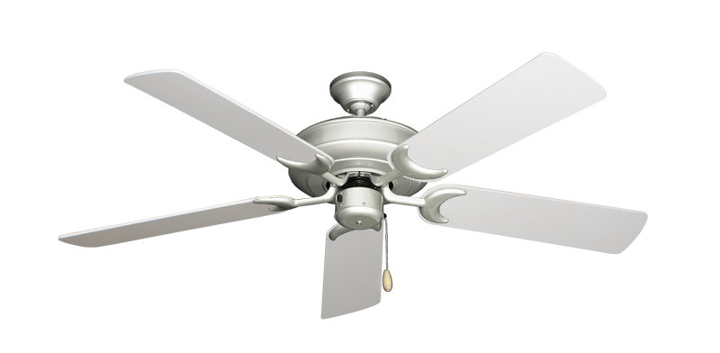 """Picture of Raindance Brushed Nickel with 52"""" Pure White Blades"""