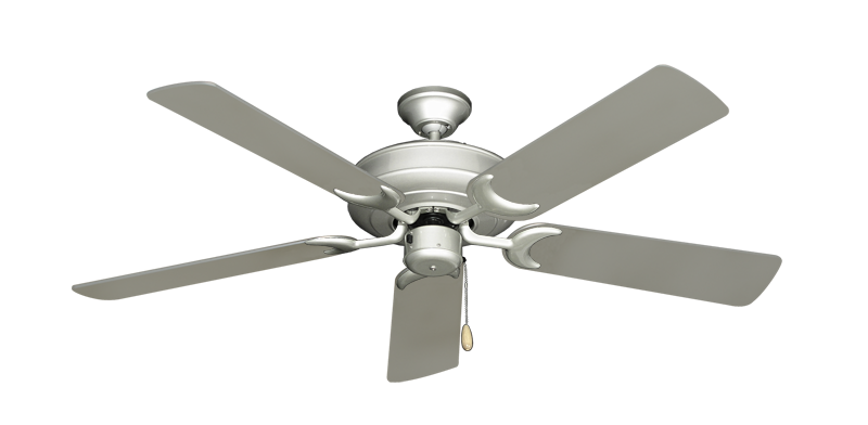 """Picture of Raindance Brushed Nickel with 52"""" Satin Steel (painted) Blades"""