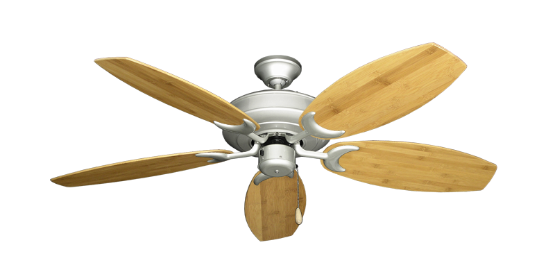 "Picture of Raindance Brushed Nickel with 52"" Oar Bamboo Brown Blades"