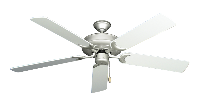 """Picture of Raindance Brushed Nickel with 56"""" Pure White Blades"""