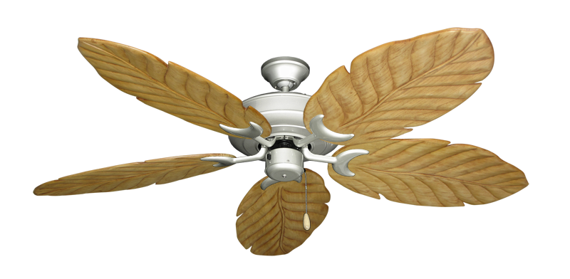 """Picture of Raindance Brushed Nickel with 58"""" Series 100 Arbor Maple Blades"""