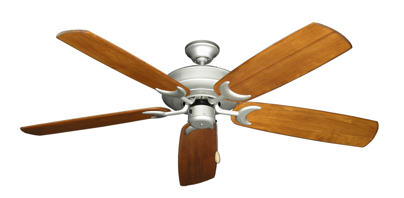 """Picture of Raindance Brushed Nickel with 60"""" Series 450 Arbor Oak Blades"""
