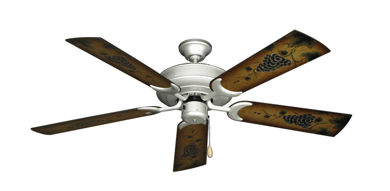 """Picture of Raindance Brushed Nickel with 52"""" Series 353 Arbor Grapes Blades"""