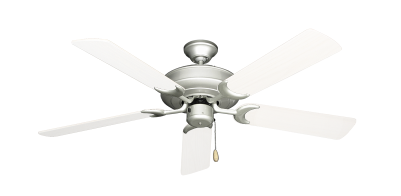 """Picture of Raindance Brushed Nickel with 52"""" Outdoor Pure White Blades"""