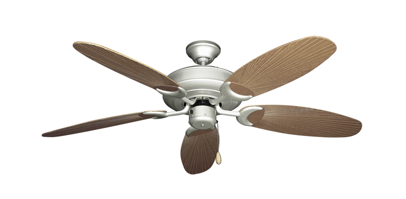 "Picture of Raindance Brushed Nickel with 52"" Outdoor Leaf Tan Blades"