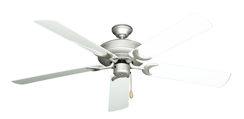 """Picture of Raindance Brushed Nickel with 60"""" Outdoor Pure White Blades"""