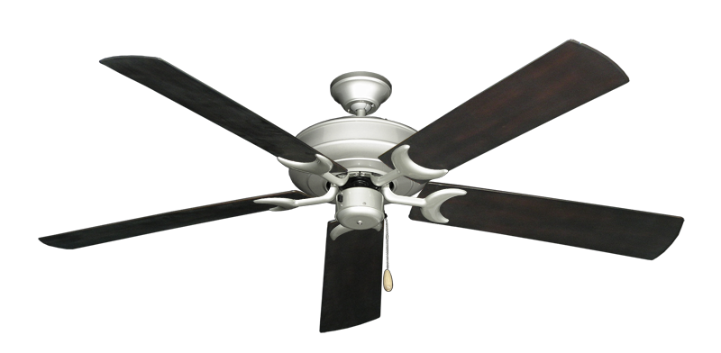 """Picture of Raindance Brushed Nickel with 60"""" Outdoor Oil Rubbed Bronze Blades"""