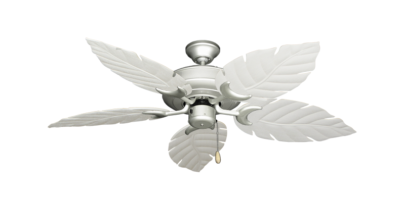 """Picture of Raindance Brushed Nickel with 52"""" Venetian Pure White Blades"""