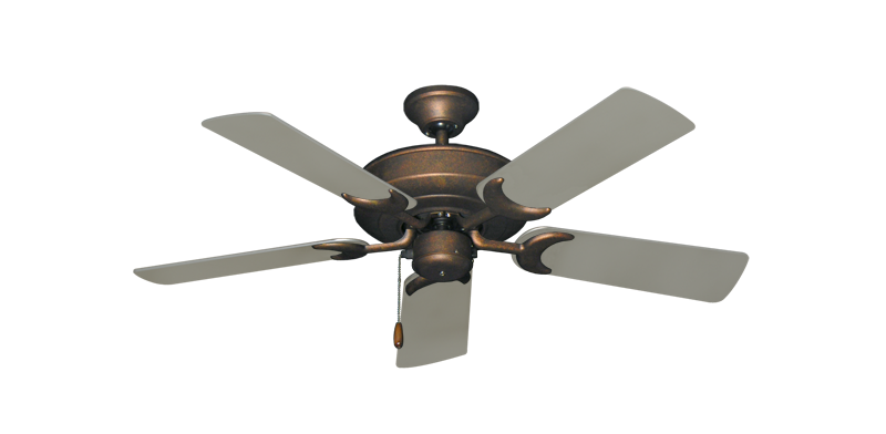 """Picture of Raindance Burnished Copper with 44"""" Satin Steel (painted) Blades"""