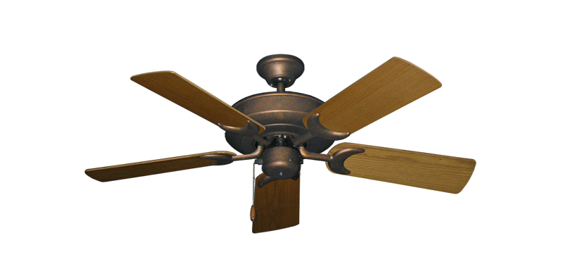 """Picture of Raindance Burnished Copper with 44"""" Light Oak Blades"""