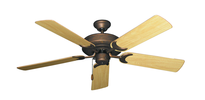 "Picture of Raindance Burnished Copper with 52"" Honey Oak Gloss Blades"