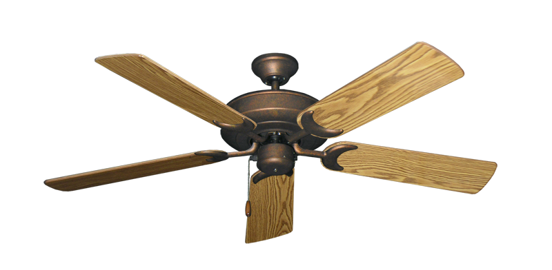 """Picture of Raindance Burnished Copper with 52"""" Oak Gloss Blades"""