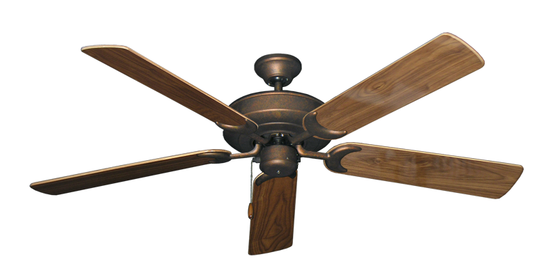 "Picture of Raindance Burnished Copper with 56"" Walnut Gloss Blades"
