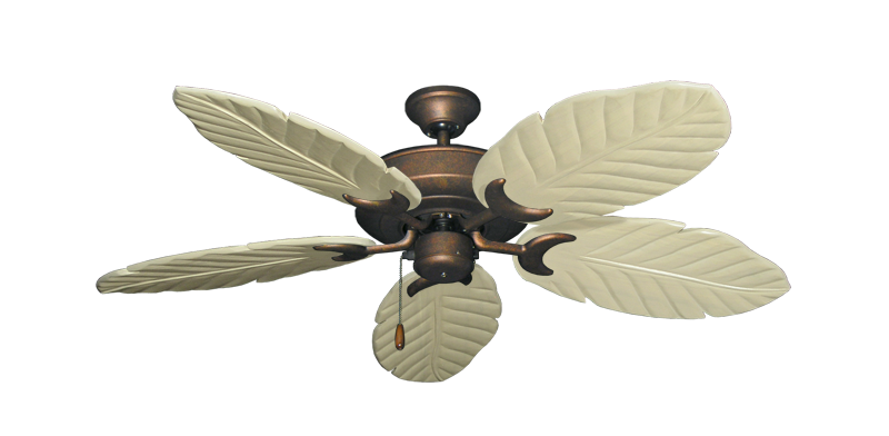 "Picture of Raindance Burnished Copper with 52"" Series 125 Arbor Whitewash Blades"