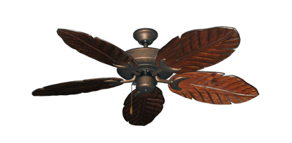 """Picture of Raindance Burnished Copper with 52"""" Series 125 Arbor Cherrywood Blades"""