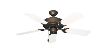 """Picture of Raindance Burnished Copper with 44"""" Outdoor Pure White Blades"""